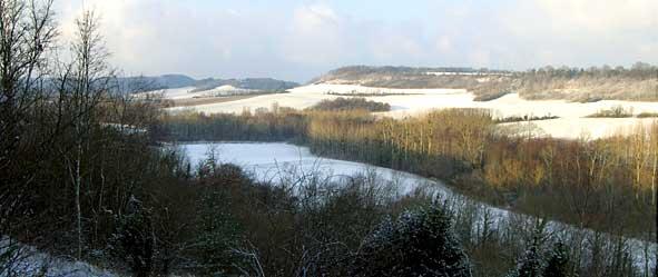 Ravin du Mourson à Paissy sous la neige