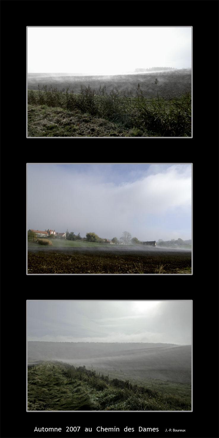 brouillard sur le Chemin des Dames