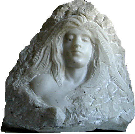 buste de femme en marbre