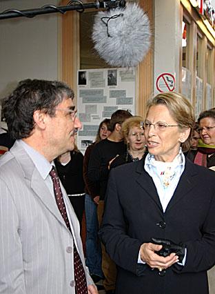 visite officielle au lycée Roosevelt en 2005