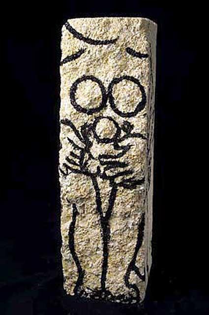 encre sur pierre de Marie-Lydie Joffre