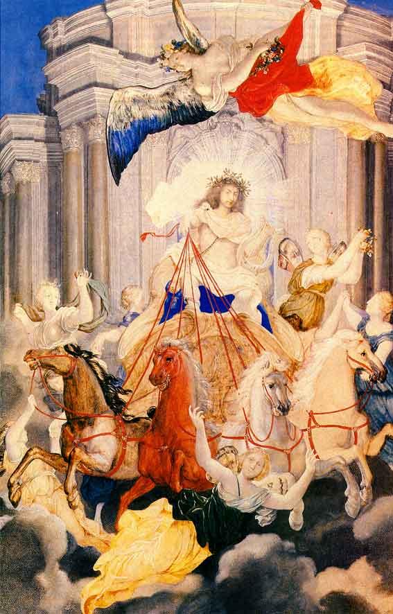 Werner, Louis XIV sur le char d'Apollon