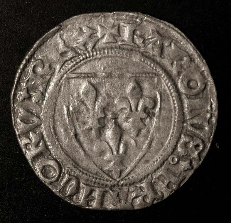pièce de monnaie dite 'gros' du roi Charles VI