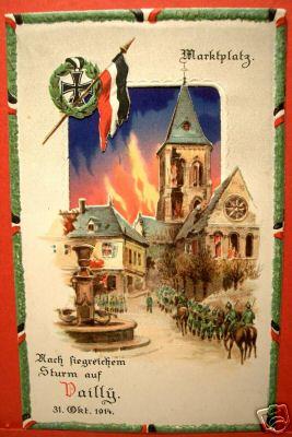Carte postale allemande célébrant la victoire de Vailly