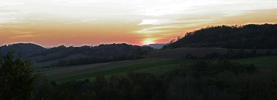 coucher de soleil d'octobre