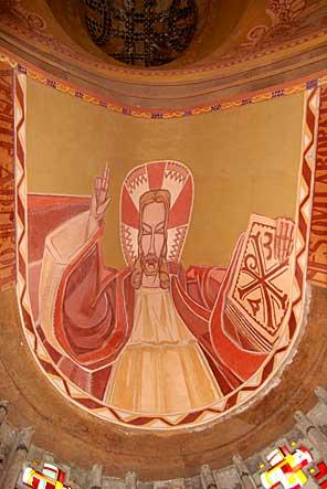 Christ de la voûte du choeur de Martigny