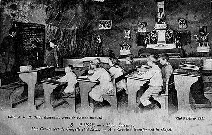 la grotte-chapelle et école de Paissy