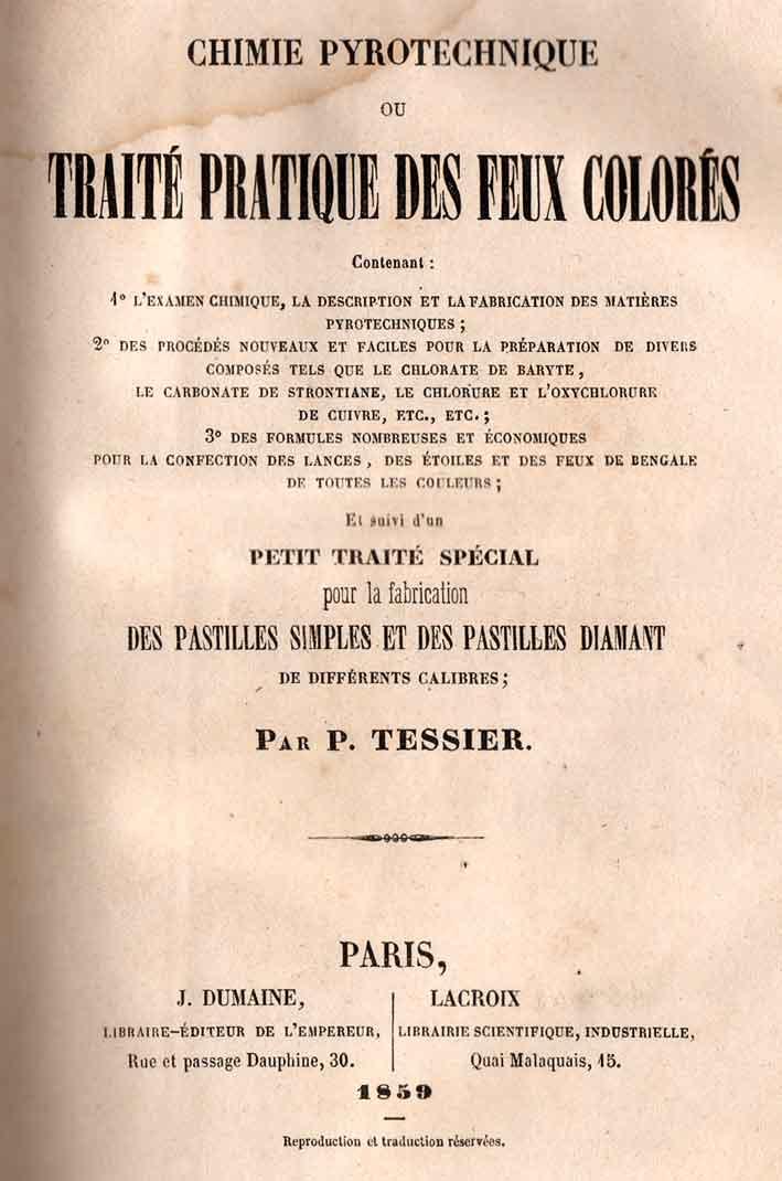Traité de pyrotechnie 1859