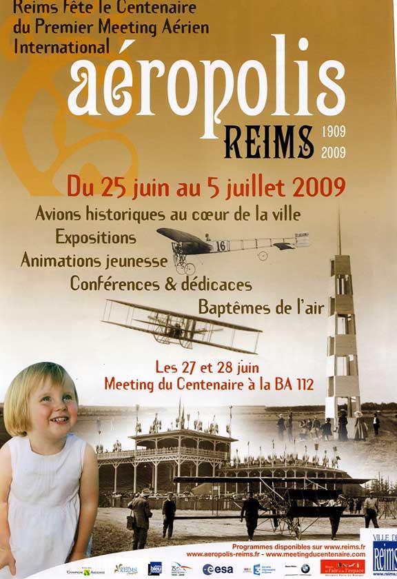 Affiche du programme Aéropolis à Reims en 2009