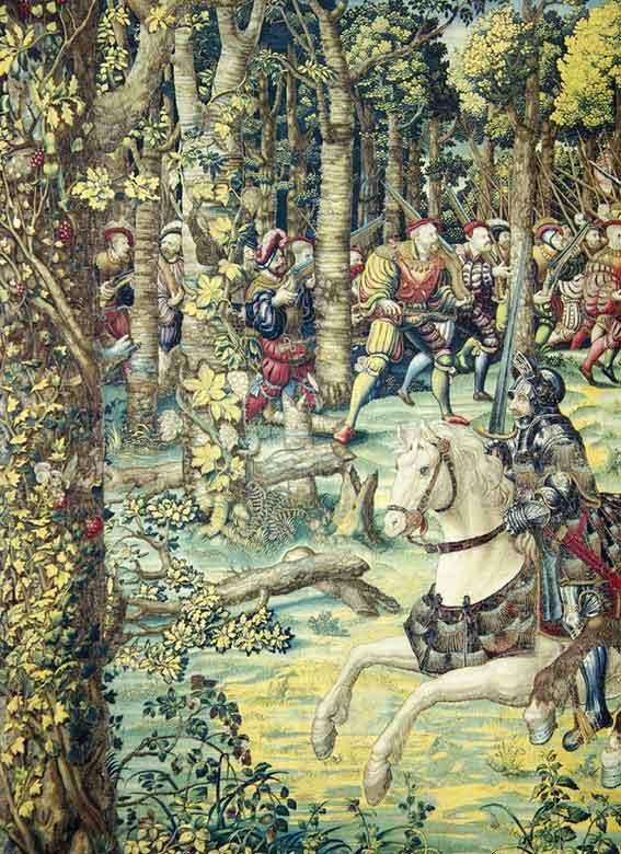 tapisserie de la Victoire de Pavie et houblon
