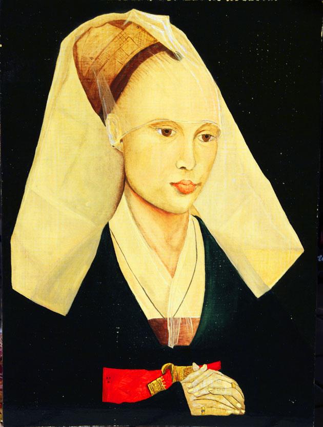 copie d'un portrait de femme de Rogier Van der Weyden