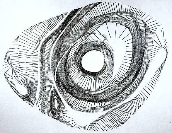 motte castrale de Montaigu en hachures
