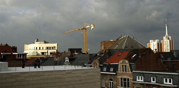 Louvain depuis la terrasse du 'M'