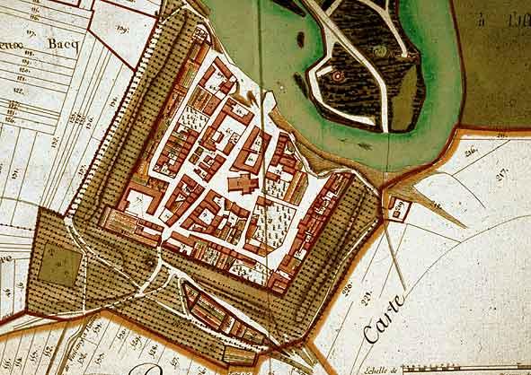 plan XVIIIe s. de Pontarcy