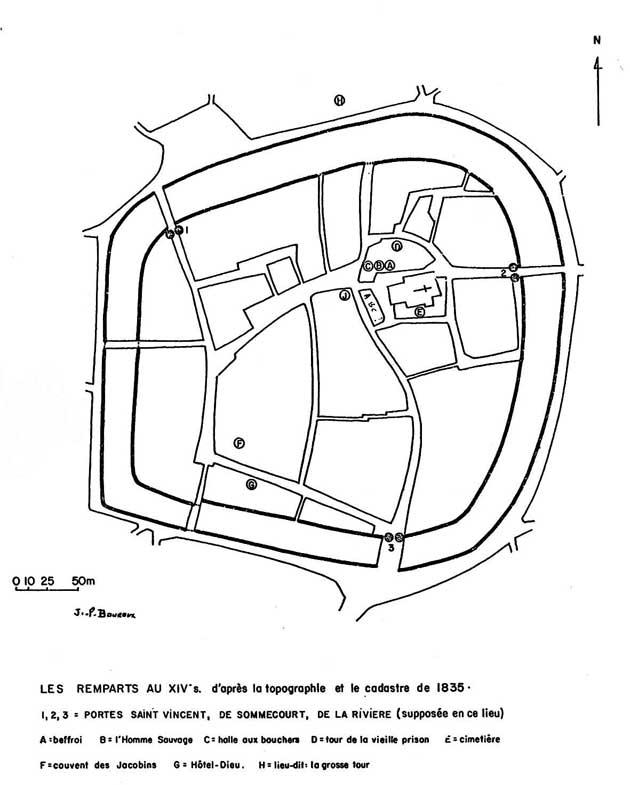 restitution du plan de Vailly au M.A.