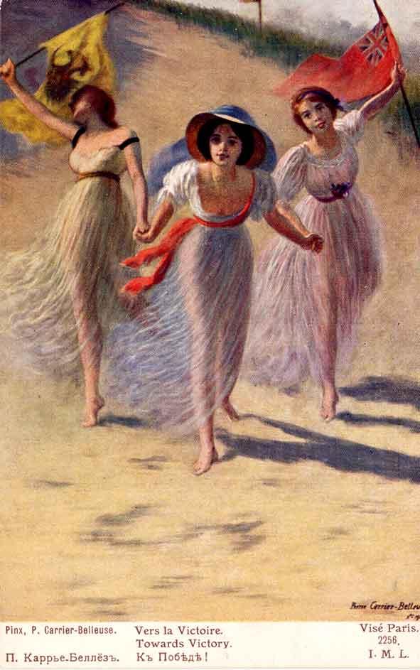 victoire des Alliés vue et illustrée par L.-R. Carrier-Belleuse