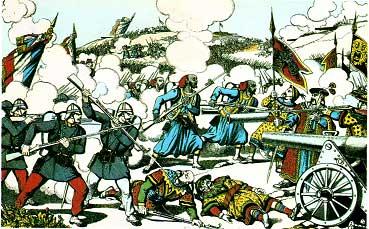 image d'Epinal représentant la guerre du Tonkin