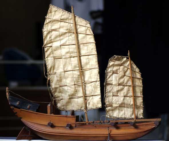 jonque tonkinoise, maquette du XIXe s.