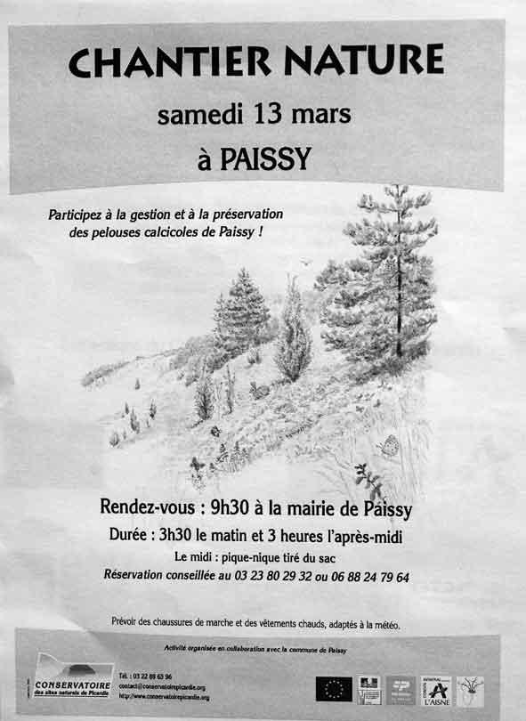 chantier nature à Paissy