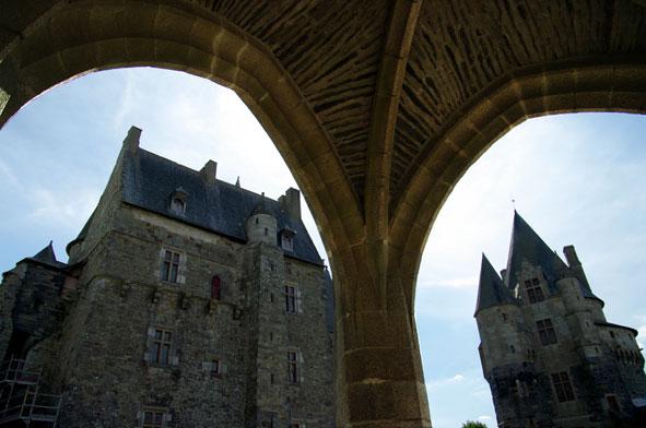 cour intérieure du château de Vitré