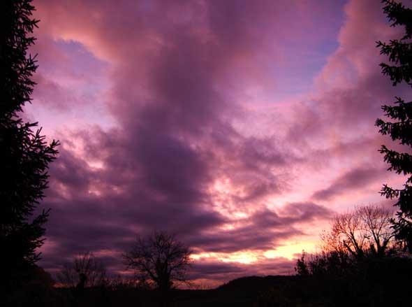 coucher de soleil novembre Paissy