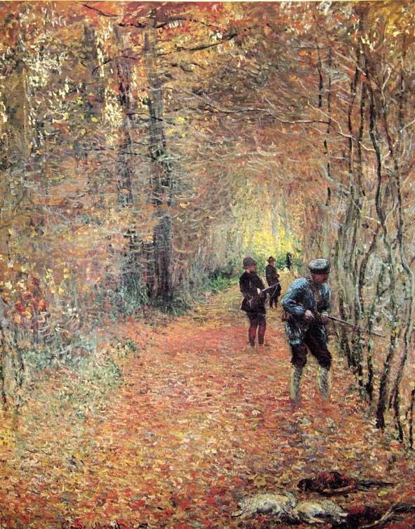 une chasse vue par Claude Monet