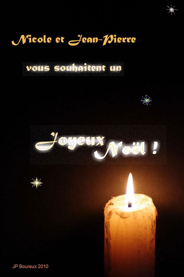carte de Noël de Jean-Pierre Boureux