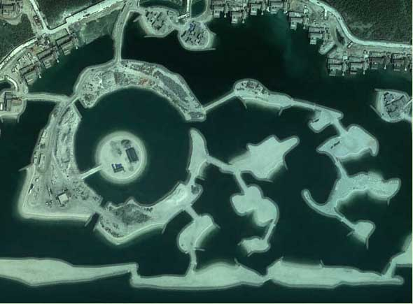 Abu Dhabi d'après Google Earth en 2010