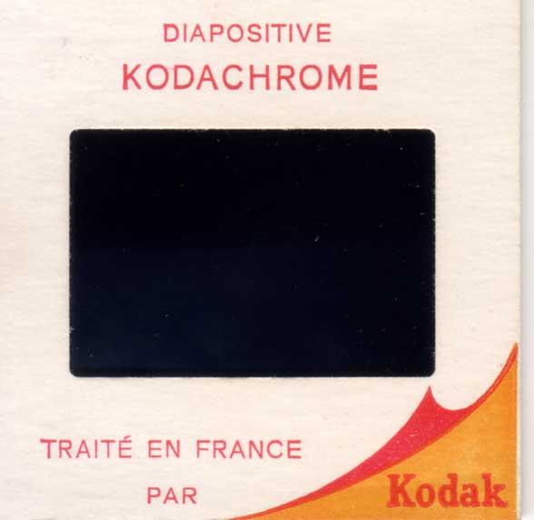 diapositive Kodachrome des années 60