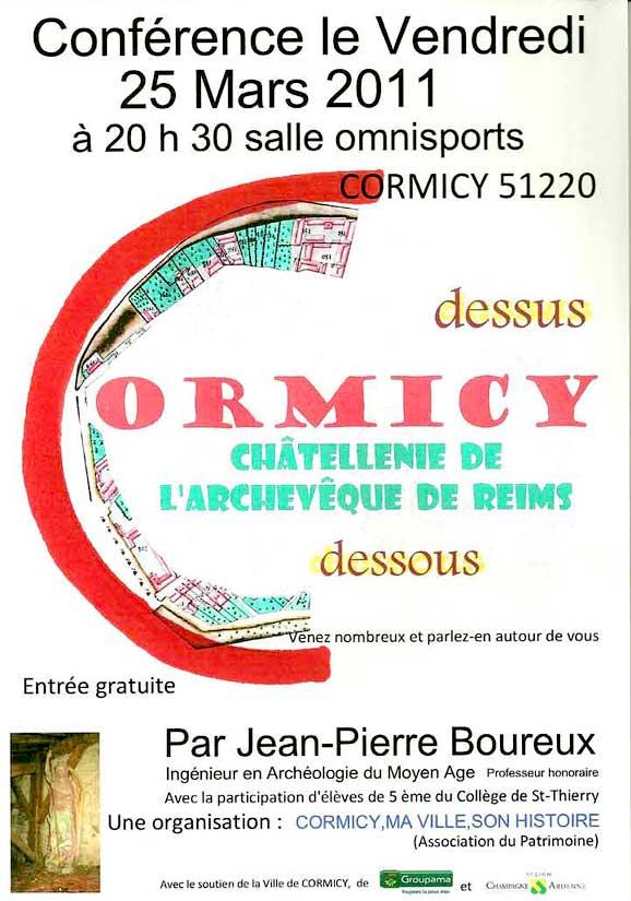 affiche conférence JP Boureux à Cormicy
