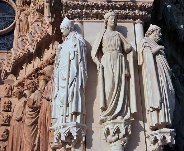 saint Rigobert, la Reine de Saba et peut-être Isaïe à Reims