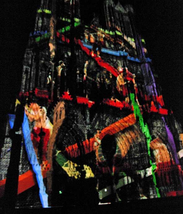 spectacle de lumière Reims 800 ans Notre-Dame