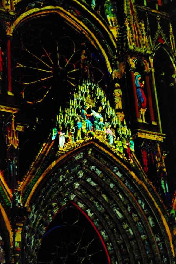 le couronnement de Marie à Reims