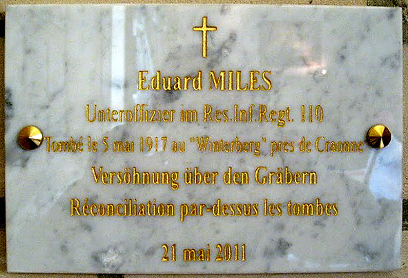 plaque au sergent Eduard Miles