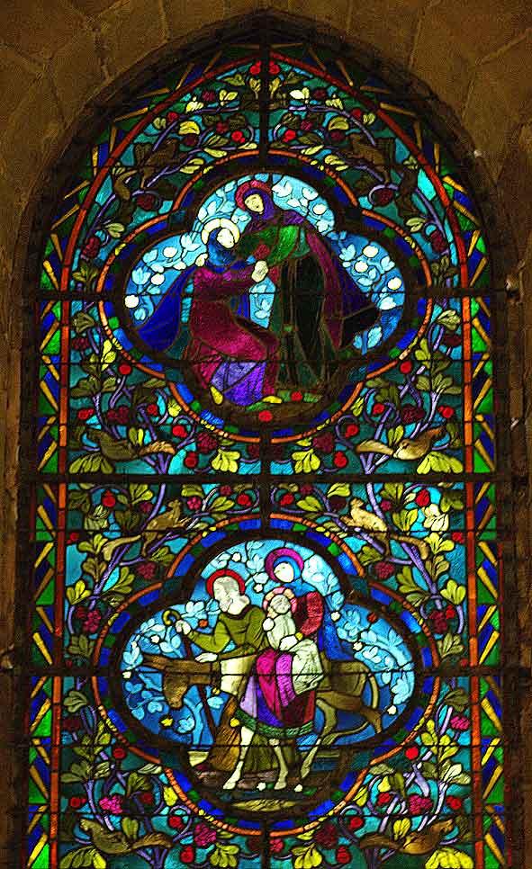 vie de Marie par Jacques Gruber dans les verrières de Braine
