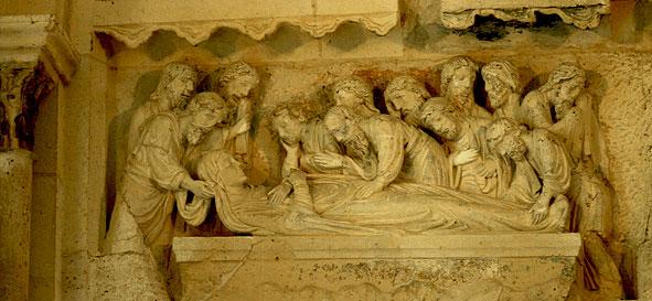 Dormition de la Vierge au tympan de Braine