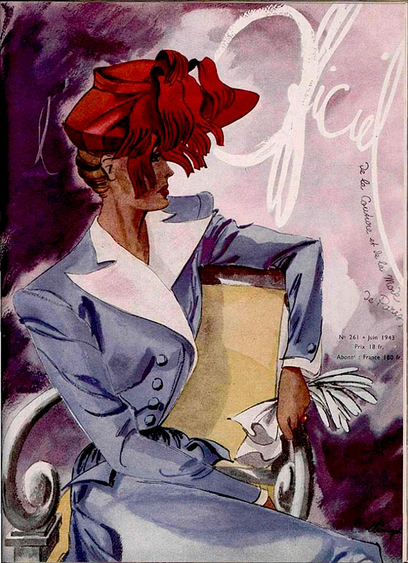 couverture de l'officiel de la Mode, juin 1943