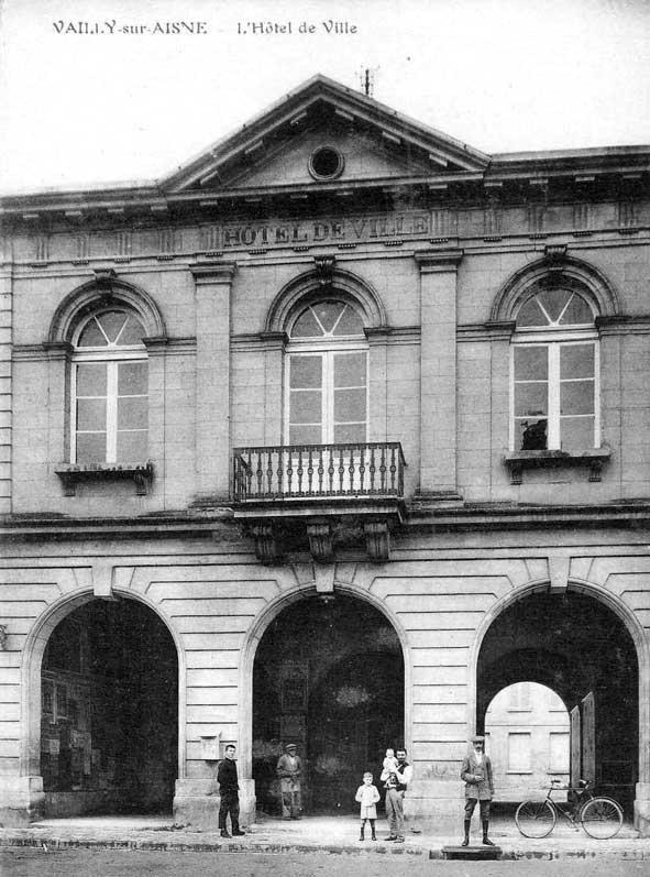Hôtel de Ville de Vailly en 1914