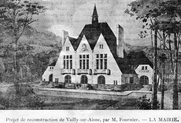 projet de mairie pour Vailly en 1919