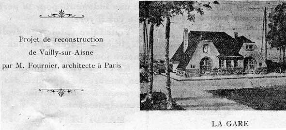 projet de la gare de Vailly en 1919