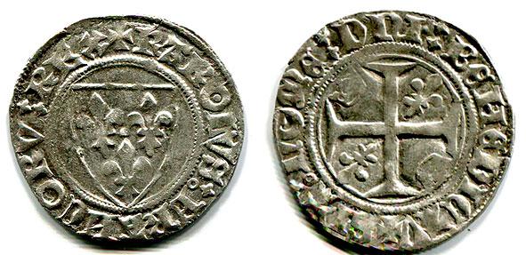 denier d'argent de Charles VI