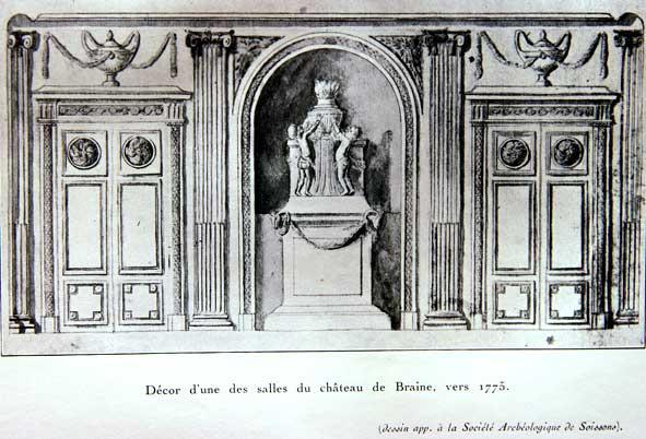salon de l'ancien château de Braine