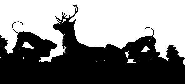 cerf et chien du château de Raray