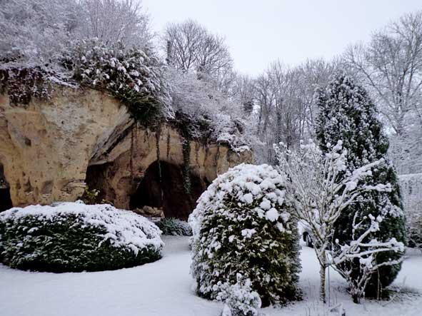 neige et roches calcaires