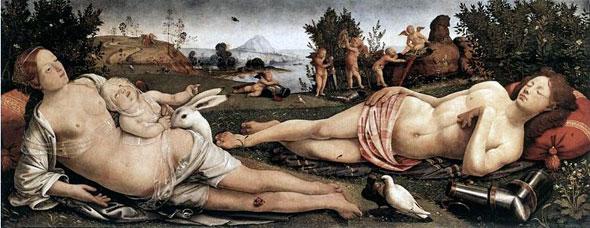 Vénus, Mars et l'Amour par Pietro di Cosimo