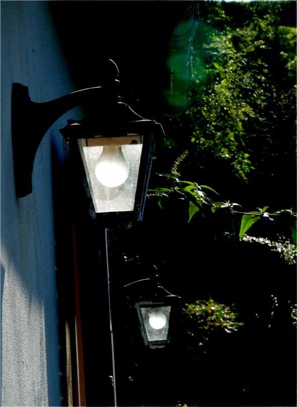 ampoule solaire allumée