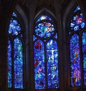 Marc Chagall, chapelle axiale du choeur de la cathédrale