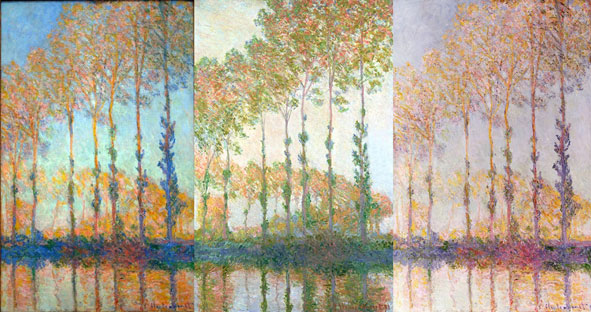 des peupliers par Monet