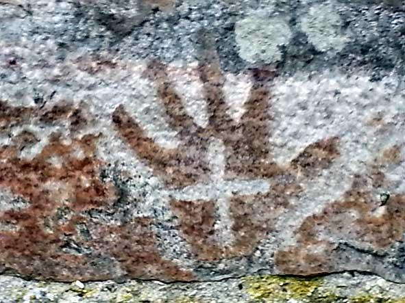 doigts, main, croix