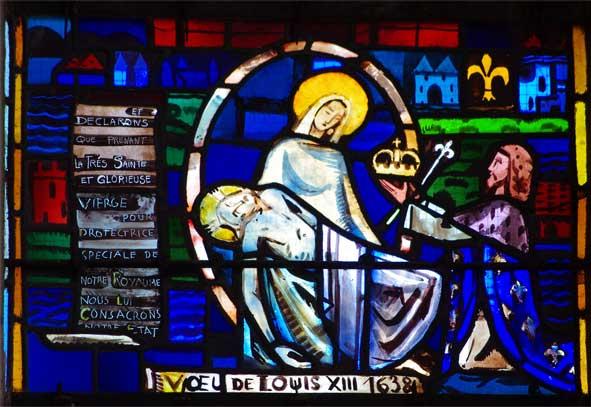 ...Et déclarons que prenant la très sainte et glorieuse Vierge pour protectrice spéciale de notre royaume nous lui consacrons notre Etat.